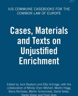 Cases, Materials and Texts on Unjustified Enrichment (Paperback)