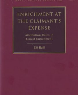 Enrichment at the Claimant?s Expense