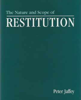 The Nature and Scope of Restitution