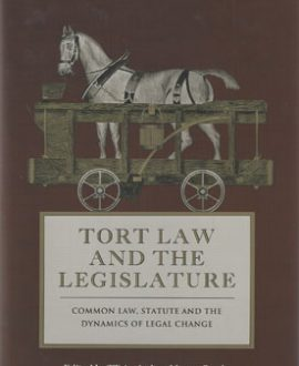 Tort Law and the Legislature