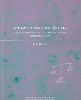 Answering for Crime (Paperback)
