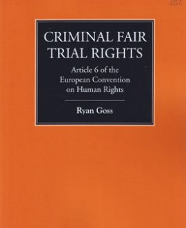 Criminal Fair Trial Rights (Paperback)