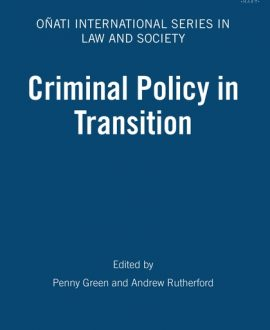 Criminal Policy in Transition (Paperback)