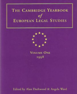 Cambridge Yearbook of European Legal Studies Vol 1, 1998