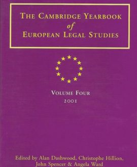Cambridge Yearbook of European Legal Studies Vol 4, 2001