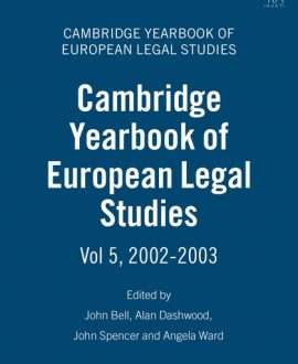 Cambridge Yearbook of European Legal Studies Vol 5, 2002-2003
