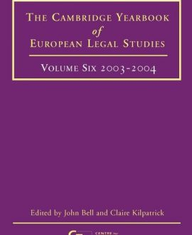 Cambridge Yearbook of European Legal Studies Vol 6, 2003-2004