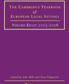 Cambridge Yearbook of European Legal Studies Vol 8, 2005-2006
