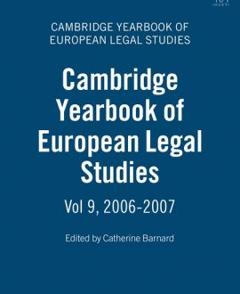 Cambridge Yearbook of European Legal Studies Vol 9, 2006-2007