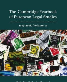 Cambridge Yearbook of European Legal Studies Vol 10, 2007-2008