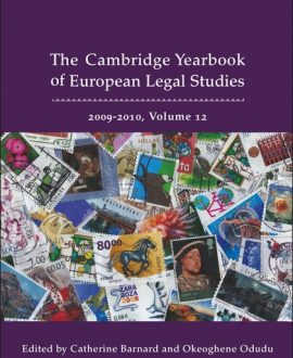 Cambridge Yearbook of European Legal Studies Vol 12, 2009-2010