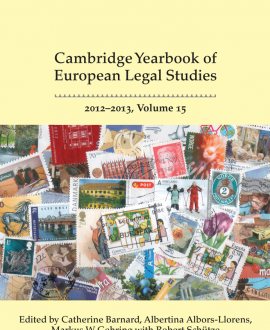 Cambridge Yearbook of European Legal Studies Vol 15, 2012-2013