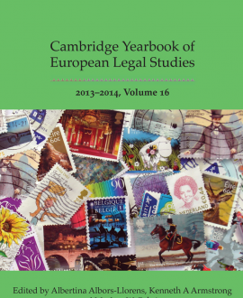 Cambridge Yearbook of European Legal Studies Vol 16, 2013-2014