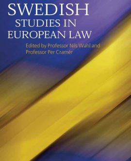 Swedish Studies in European Law - Vol 1