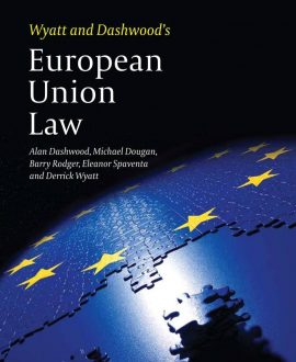 Wyatt and Dashwood?s European Union Law