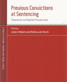 Previous Convictions at Sentencing (Paperback)