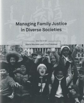 Managing Family Justice in Diverse Societies (Paperback)