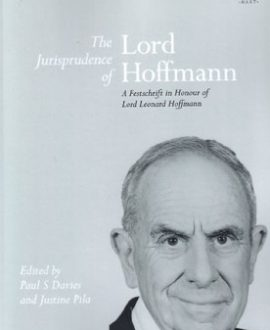 The Jurisprudence of Lord Hoffmann,