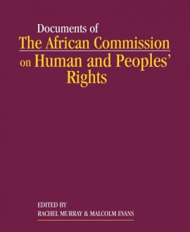 The African Commission on Human and Peoples? Rights and International Law