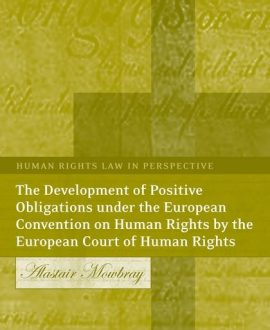 The Development of Positive Obligations under the European Convention on Human Rights by the European Court of Human Rights