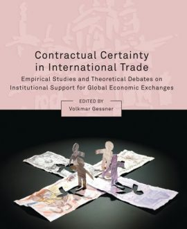 Contractual Certainty in International Trade (Paperback)