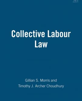 Collective Labour Law (Paperback)