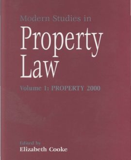 Modern Studies in Property Law Vol 1