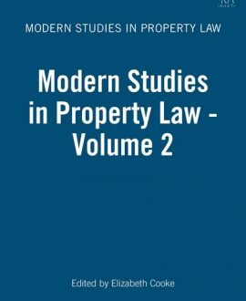 Modern Studies in Property Law Vol 2