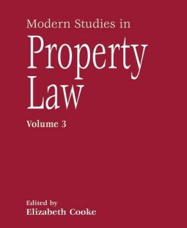 Modern Studies in Property Law Vol 3
