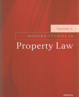 Modern Studies in Property Law Vol 5