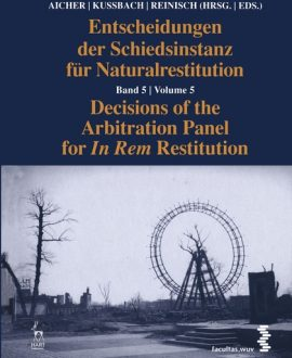 Decisions of the Arbitration Panel for In Rem Restitution Vol 5