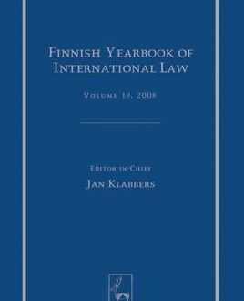 Finnish Yearbook of International Law, Vol 19, 2008