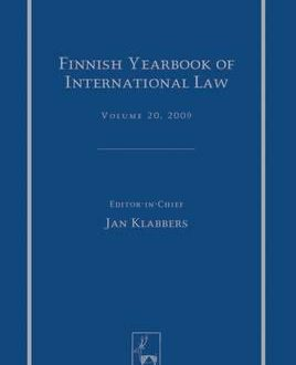 Finnish Yearbook of International Law, Vol 20, 2009