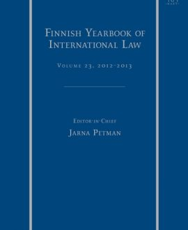 Finnish Yearbook of International Law, Vol 23, 2012-2013