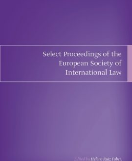Select Proceedings of the European Society of International Law Vol 2 2008