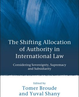 The Shifting Allocation of Authority in International Law