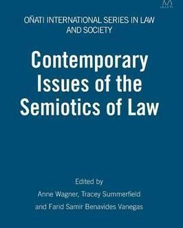 Contemporary Issues of the Semiotics of Law (Paperback)