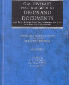 GM Divekar's Practical Guide to Deeds and Documents