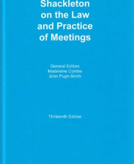 Shakelton on the Law and Practice of Meetings