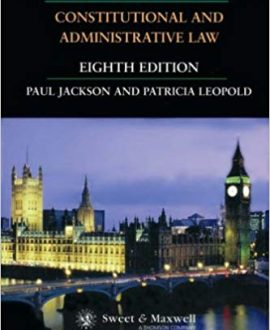 O. Hood Phillips & Jackson: Constitutional and Adminstrative Law