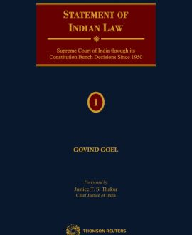 Statement of Indian Law Supreme Court of Indian through its Constitution Bench Decisions since 1950