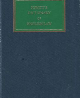 Jowitts Dictionary of English Law