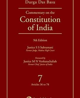Commentary on the Constitution of India; Vol 1