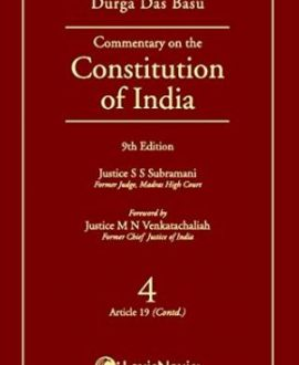 Commentary on the Constitution of India; Vol 9