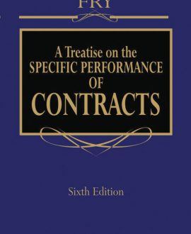 Treatise on the Specific Performance of Contracts