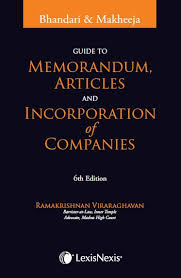 Guide to Memorandum Articles &Incorporation of Companies