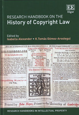 Research Handbook on the History of Copyright Law (Paperback)