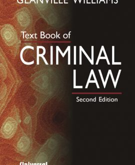 Text Book of Criminal Law (Fourth Indian Reprint),