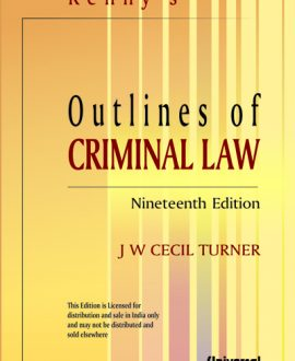 Outlines of Criminal Law (Fourth Indian Reprint)