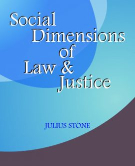Social Dimensions of Law and Justice, (Third Indian Reprint),